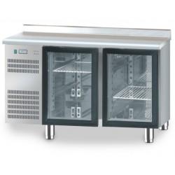 Stół chłodniczy z drzwiami przeszklonymi DM-94005 1325x700x850 DORA METAL