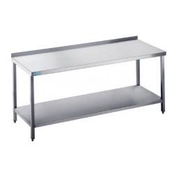 Stół do pracy z półką - głębokość 600 mm, długość 1000-2000 mm RILLING