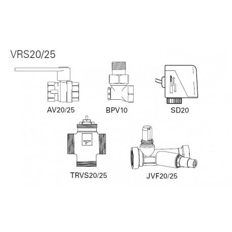Frico VRS25 zestaw zaworów DN 25 mm