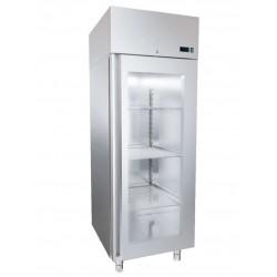 Szafa chłodnicza nierdzewna z drzwiami przeszklonymi DM-92616 660x681x2040 DORA METAL