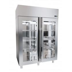 Szafa chłodnicza nierdzewna z drzwiami przeszklonymi DM-92609 1440x821x2040 DORA METAL